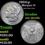 1904-p Morgan Dollar $1 Grades Unc Details