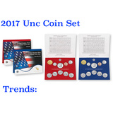 2017 United States Mint Uncurculated Coin Set 20
