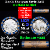 Buffalo Nickel Shotgun Roll in Old Bank Style 'Los Angeles Trust And Savings Bank' Wrapper 1917 & d