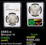 NGC 1885-o Morgan Dollar $1 Graded ms65 By NGC