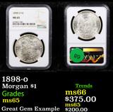 NGC 1898-o Morgan Dollar $1 Graded ms65 By NGC