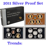 2011 United States Mint Silver Proof Set - 14 pc set, about 1 1/2 ounces of pure silver