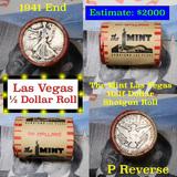 ***Auction Highlight*** Old Casino 50c Roll $10 Halves The Mint Hotel Vegas 1941 Walker & 'P' Barber