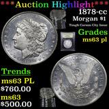 ***Auction Highlight*** 1878-cc Morgan Dollar 1 Graded Select Unc PL By USCG (fc)