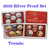 2010 United States Silver Proof Set - 14 pc set, about 1 1/2 ounces of pure silver