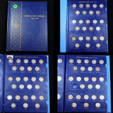 ***Auction Highlight*** Complete Mercury Dime Book 1916-1945 77 Coins (fc)