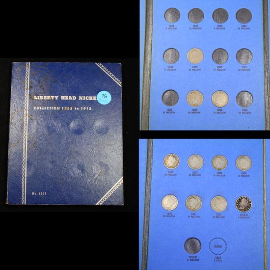 Starter Liberty Nickel Book 1899-1912 11 coins Grades