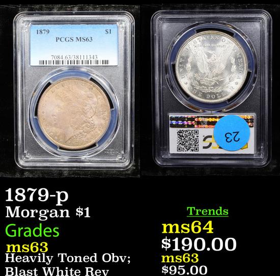PCGS 1879-p Morgan Dollar $1 Graded ms63 By PCGS