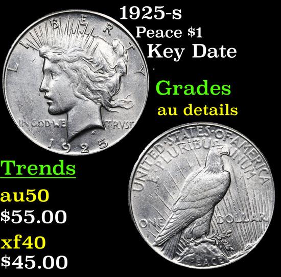 1925-s Peace Dollar $1 Grades AU Details