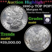 1890-p TOP POP Morgan Dollar $1 Graded GEM+ Unc