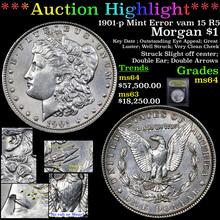 1901-p Mint Error vam 15 R5 Morgan Dollar $1