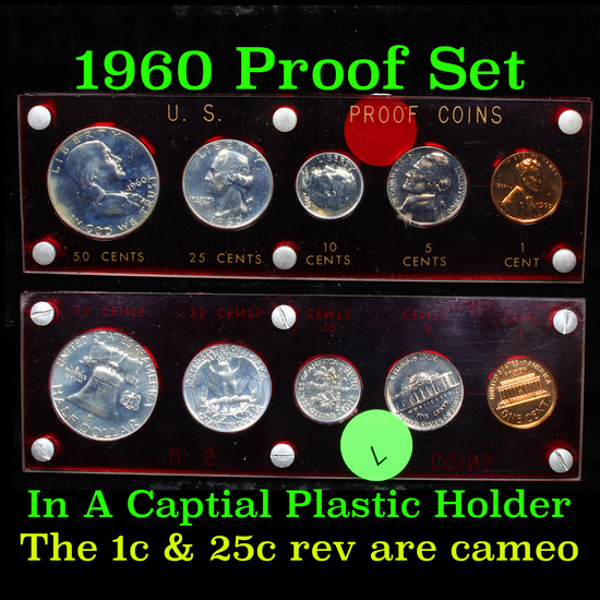 1960 Proof Set in Capital Plastic Holder