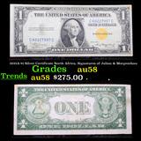 1935A $1 Silver Certificate North Africa, Signatures of Julian & Morgenthau Grades Choice AU/BU Slid