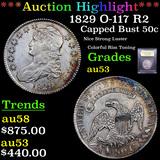 ***Auction Highlight*** 1829 O-117 Capped Bust Half Dollar 50c Graded Select AU By USCG (fc)