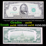 **Star Note** 1950c $50 Green Seal Federal Reserve Note (Philidelphia, PA) Grades Choice AU/BU Slide