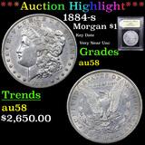 ***Auction Highlight*** 1884-s Morgan Dollar $1 Graded Choice AU/BU Slider By USCG (fc)