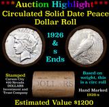***Auction Highlight*** AU/BU Slider CC Invest & Trust Co Shotgun Peace $1 Roll 1926 & 'S' Ends Virt