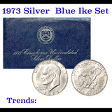 1973-s Silver Unc Eisenhower Dollar in Original Packaging with COA