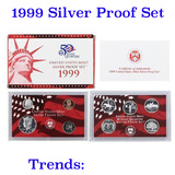 1999 United States Silver Proof Set   KEY TO THE SERIES!!