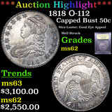 ***Auction Highlight*** 1818 O-112 Capped Bust Half Dollar 50c Graded Select Unc By USCG (fc)
