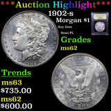***Auction Highlight*** 1902-s Morgan Dollar $1 Graded Select Unc By USCG (fc)