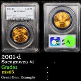 PCGS 2001-d Sacagawea $1 1 Graded ms65 By PCGS