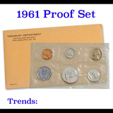 1961 Proof Set Original Packaging Including Mint Letter