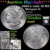 ***Auction Highlight*** 1883-s vam 10 R5 Morgan Dollar $1 Graded Select Unc By USCG (fc)