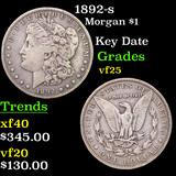 1892-s Morgan Dollar $1 Grades vf+