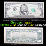 **Star Note** 1963a $50 Green Seal Federal Reserve Note Low Serial # (San Fransisco, CA) Grades Sele