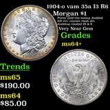 1904-o vam 35a I3 R6 Morgan Dollar $1 Grades Choice+ Unc