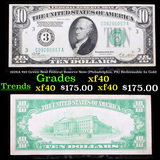 1928A $10 Green Seal Federal Reserve Note (Philadelphia, PA) Redeemable In Gold Grades xf