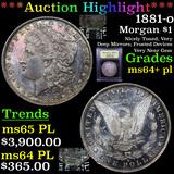 ***Auction Highlight*** 1881-o Morgan Dollar $1 Graded Choice Unc+ PL By USCG (fc)