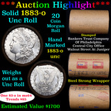 ***Auction Highlight*** Full solid date 1883-o Uncirculated Morgan silver dollar roll, 20 coins (fc)