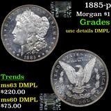 1885-p Morgan Dollar $1 grades unc details DMPL