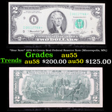 *Star Note* 1976 $2 Green Seal Federal Reserve Note (Minneapolis, MN,) Grades Choice AU