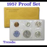 1957 Proof Set 5 coins