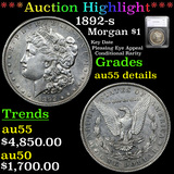 ***Auction Highlight*** 1892-s Morgan Dollar $1 Graded au55 details By SEGS (fc)