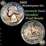 Proof 1962 Washington Quarter 25c Grades Proof Details