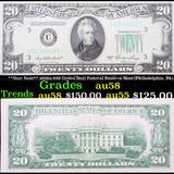 **Star Note** 1950a $20 Green Seal Federal Reserve Note (Philadelphia, PA) Grades Choice AU/BU Slide