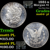 1881-s Morgan Dollar $1 Grades Choice Unc+ PL