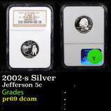 Proof NGC 2002-s Silver Washington state 25c quarter Ohio Graded pr69 dcam By NGC