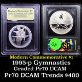 Proof 1995-P Olympic Gymnast Modern Commem Dollar $1 Graded GEM++ Proof Deep Cameo By USCG