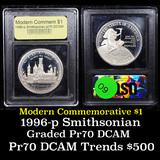 Proof 1996-P Smithsonian Institution Modern Commem Dollar $1 Graded GEM++ Proof Deep Cameo By USCG