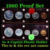 1960 Proof Set in Capital Plastic Holder