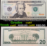 **Star Note** 2009 $20 Green Seal Federal Reserve Note Grades Gem++ CU