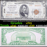 1929 $5 National Currency 'The Broad St. National Bank Of Trenton, NJ' Type 2 Grades vf++