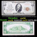 1929 $10 National Currency 'The Hazleton National Bank Of Hazleton, PA' Type 1 Grades Choice AU/BU S