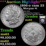 ***Auction Highlight*** 1896-o vam 23 Morgan Dollar $1 Graded Select Unc By USCG (fc)
