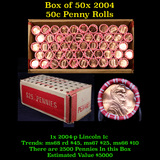 ***Auction Highlight*** 50 Rolls of 2004-p Lincoln Pennies. 50 coins each 2500 coins total (fc)